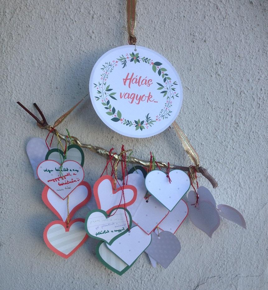 a hála segít, hogy békés karácsony lehessen