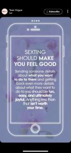 a TeenVogue bátorítja a szextinget